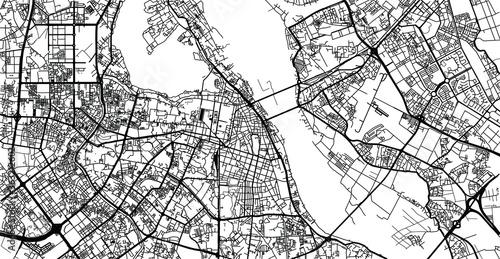 Fototapeta Urban vector city map of Hanoi, Vietnam