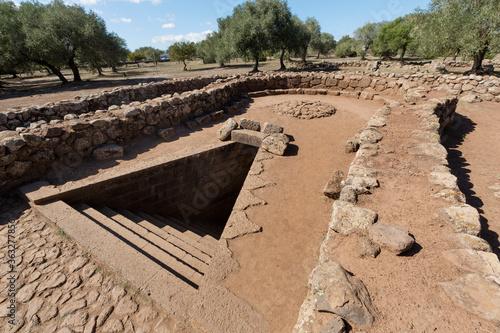 Obraz na plátně Ancient sacred well of Santa Cristina near Paulilatino, Oristano, Sardinia, Italy