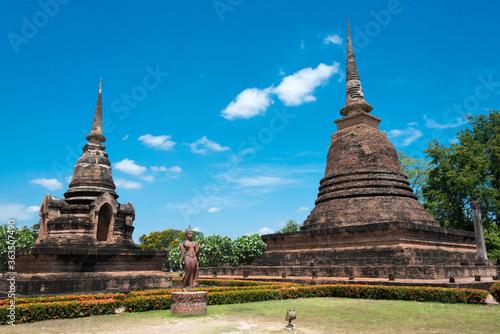 Wat Sra Sri in Sukhothai Historical Park, Sukhothai, Thailand Fototapeta