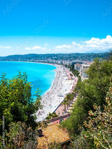 Fotografia Vue sur la promenade des anglais à Nice, sur la cote d'azur, en France