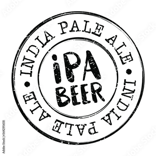 Fototapeta India Pale Ale Beer Stamp Postmark