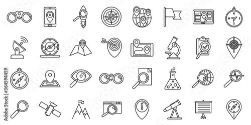 Carta da parati Research icons set