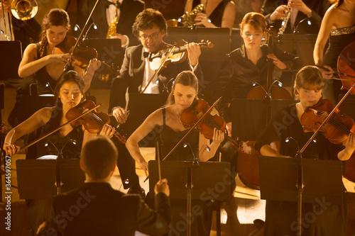 Fotografia Orchestra performing