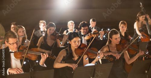 Stampa su Tela Orchestra performing
