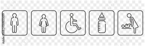Fotografía icon of toilet restroom wc vector