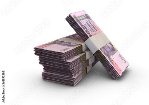 Slika na platnu Thai Baht Notes Pile