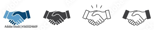 Fotografia Business agreement handshake icon in different style vector illustration, friend