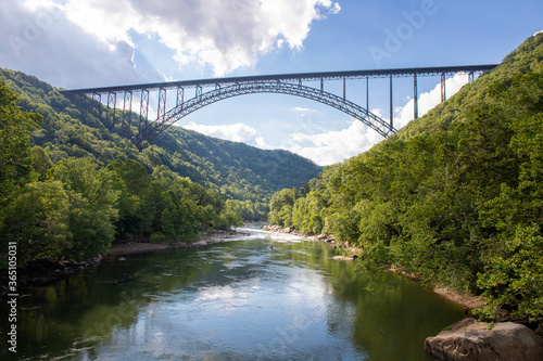 New River Gorge Bridge in West Virginia Fototapeta