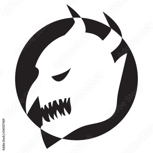 silhouette of devil mask Fototapet