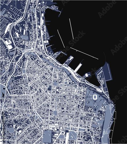 Fotografie, Obraz map of the city of Odessa, Odessa Oblast, Ukraine