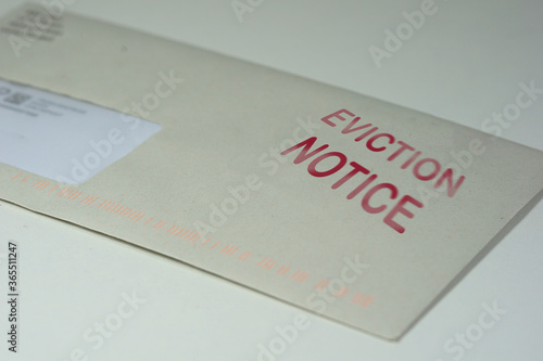 Cuadros en Lienzo Envelop for an eviction notice to a defaulting renter in due to missed rent in r