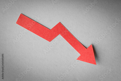 Slika na platnu Decrease Graph About Business Concept