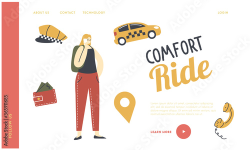 Canvas Order for Cabbie Driver Service Landing Page Template