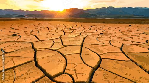 Fotografia Lifeless desert area