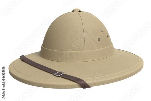 Carta da parati 3d illustration of a safari hat