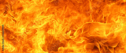 Fotografie, Tablou angry firestorm texture for banner background, 64 x 27 ultra-widescreen aspect r