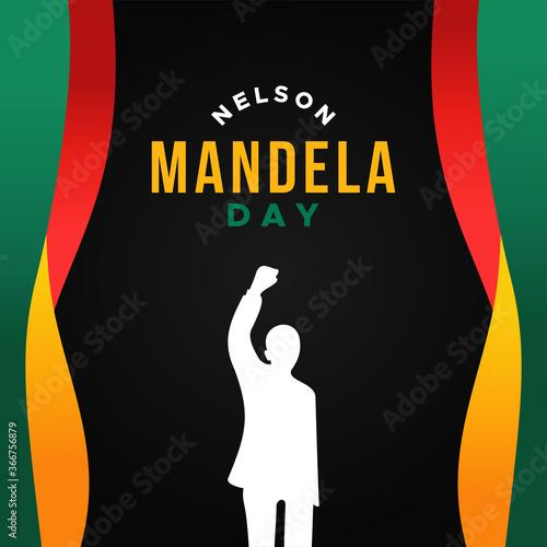 Wallpaper Mural International Nelson Mandela Day Vector Design Illustration For Celebrate Moment