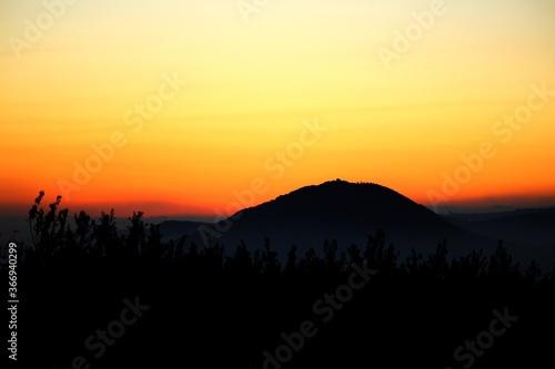 Fényképezés Mount Tabor at sunset, Israel