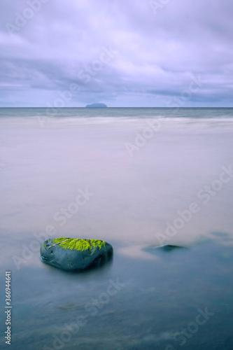 Billede på lærred Ailsa Craig from Croy Shore, Scotland