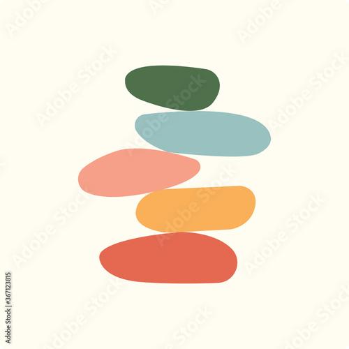 Slika na platnu Vector Illustration of balance made of colored stones