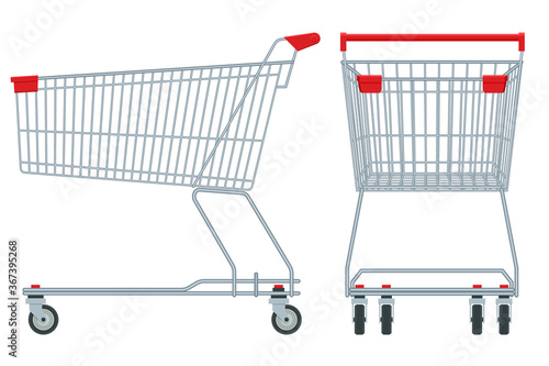 Shopping cart isolated on white background Fototapete