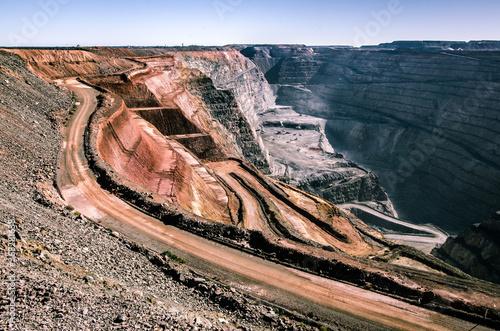 Canvas Print Open Pit Mining