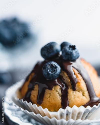 Canvas Print Waniliowe muffiny z borówkami.