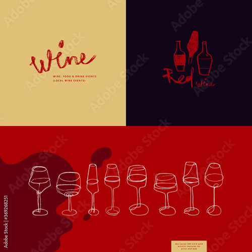 Canvas Print Winehouse symbol and winery insignia