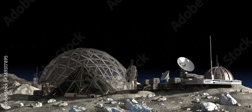 Photographie Moon outpost colony