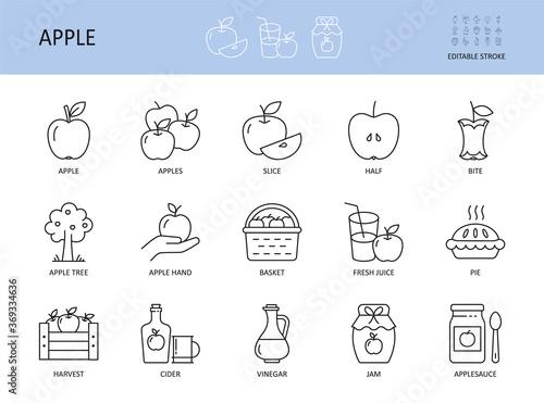 Foto Vector apple icons