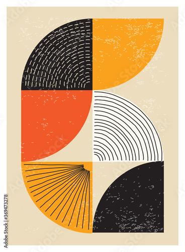 Minimal 20s geometric design poster Tapéta, Fotótapéta