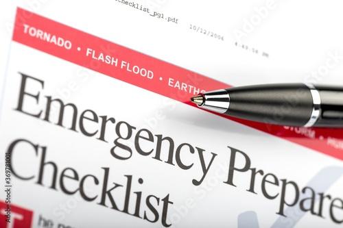 Fotografie, Obraz Emergency Preparedness Checklist