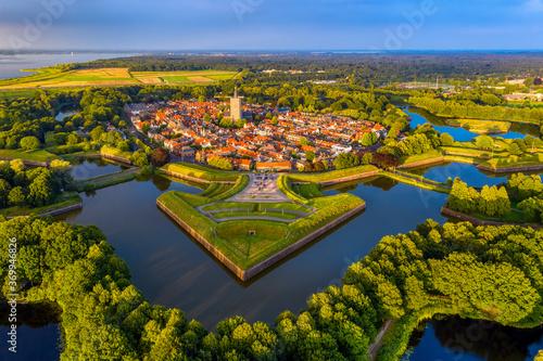 Fotografiet Naarden, a fortified walled city in Netherlands