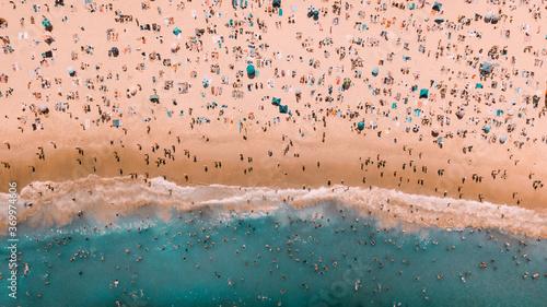 Canvas Print Beach Crowd
