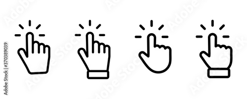 Fotografija Set of Hand pointer symbol in trendy flat style