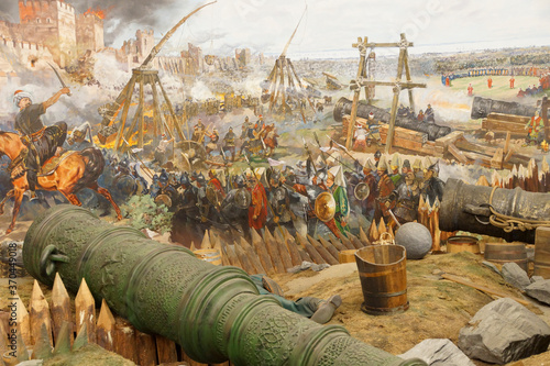 Huge siege cannon used in the final assault of Constantinople Fototapeta