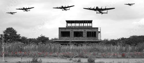 Fényképezés Avro Lancaster bomber, British 4 engined ww2 heavy bomber