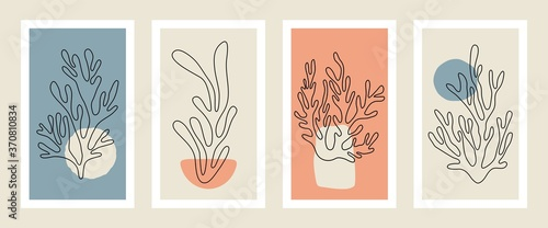 Canvastavla Abstract coral posters