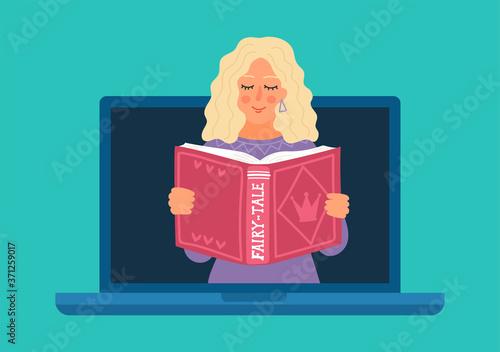 Wallpaper Mural Woman reading fairy-tale online
