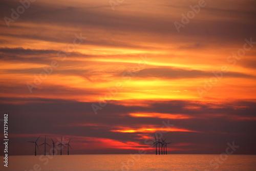 Eolian field and wind turbines