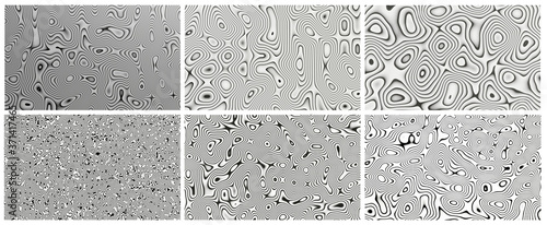 Fotografia Black and white Damascus steel knife material pattern use for background and wallpaper