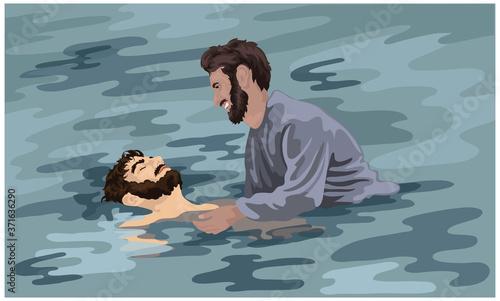Fotografia Saul's Conversion, Saul Baptised, Acts 9