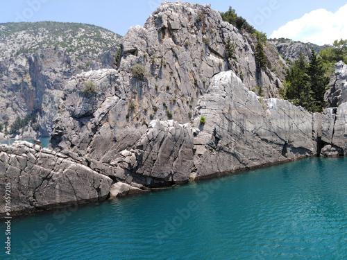 Fototapeta Landscape, Turkey, Green canyon, mountains,