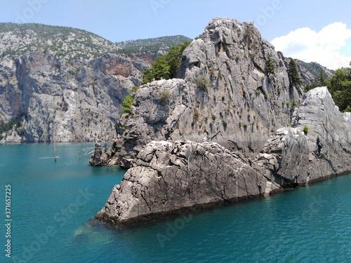 Obraz na plátně Landscape, Turkey, Green canyon, mountains,