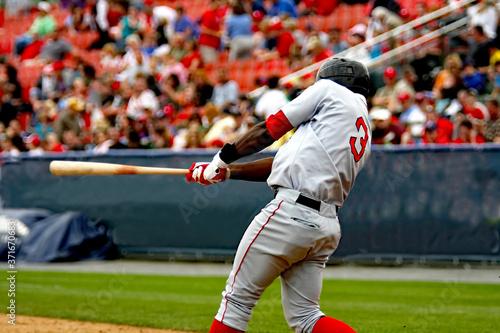 Canvas Print baseball players hitting