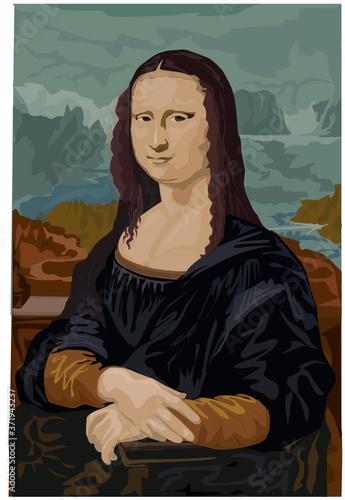 Wallpaper Mural La Joconde, Mona Lisa, Leonard de Vinci