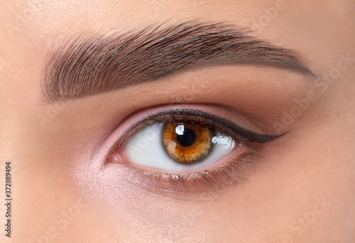 Slika na platnu Eyes and eyebrows close up