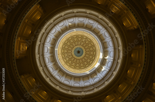 dome of the Capitol building in Austin Tx. Fototapet