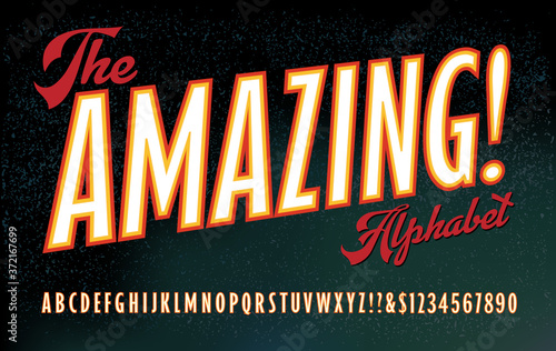 Canvas Print The Amazing! Alphabet; A Font in the Style of 19th and Early 20th Century Poster Art, Especially for Magic Shows & Carnival Sideshows