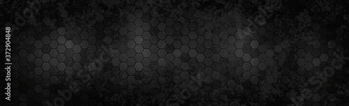 Foto Panoramic texture of black and gray carbon fiber - Vector